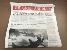 The Globe and Mail will cease distribution in Atlantic Canada as of Dec. 1.